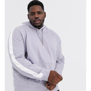 New Look Plus overhead hoodie in gray