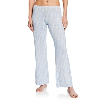 Diamond Maze Wide-Leg Pajama Pants