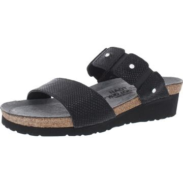 Naot Ashley Women's Leather Rhinestone Cushioned Slide Sandals