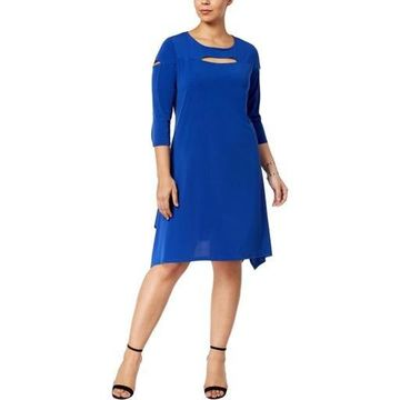 NY Collection Womens Plus Party Handkerchief Hem Special Occasion Dress