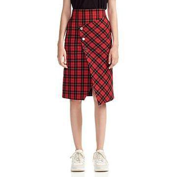 Maje Janty Plaid Skirt