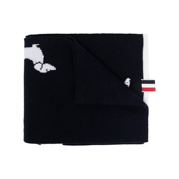 THOM BROWNE Hector wool scarf