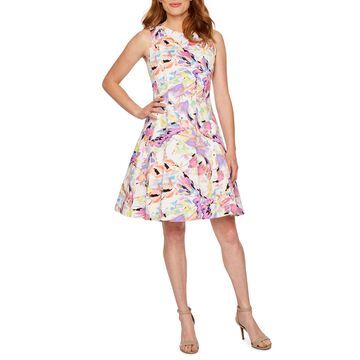 Ronni Nicole Sleeveless Abstract Fit & Flare Dress