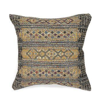 Liora Manne Marina Tribal Stripe Indoor Outdoor Throw Pillow, Black, 18X18
