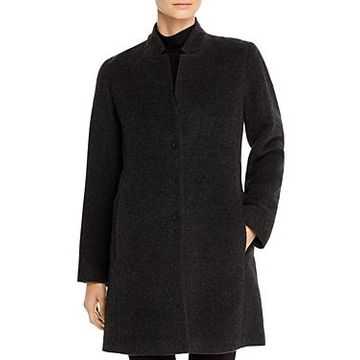 Eileen Fisher Notched-Collar Coat