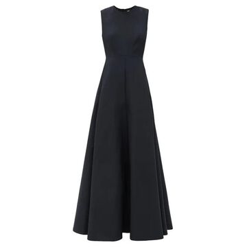 Valentino - Sleeveless Cotton-blend Twill Gown - Womens - Black