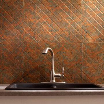 Fasade Quilted Backsplash in Copper Fantasy 15-square-foot 15 Sq Ft Kit