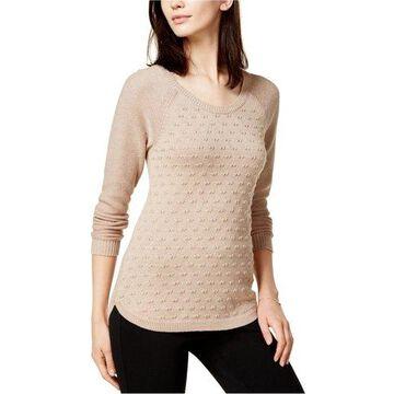 maison Jules Womens Dot Pullover Sweater