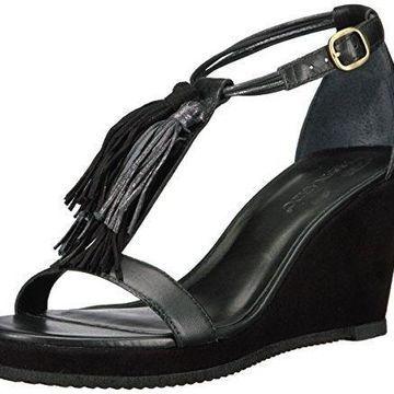 Bernardo Women's Khloe Wedge Sandal, Black/Petrol, 5.5 M US