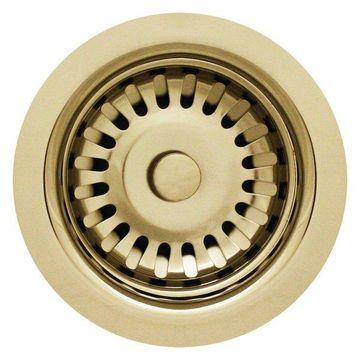 Whitehaus RNW35-B 3 1/2'' Fireclay Sink Brass Strainer In Polished Brass