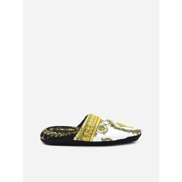Versace Cotton Slippers With Barocco Motif
