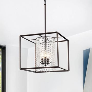 Warehouse of Tiffany Lorette Oil Rubbed Bronze 3-light Crystal Chandelier
