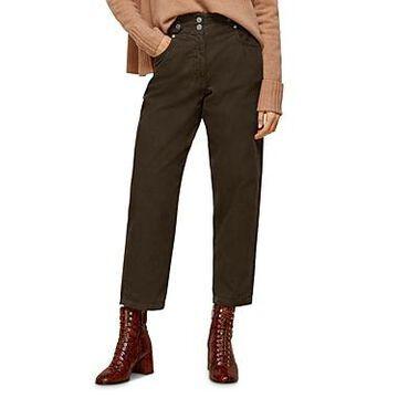 Whistles Cropped Cotton Corduroy Pants