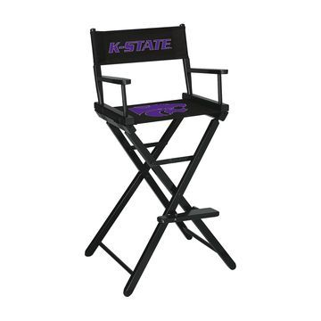 Imperial Kansas State Wildcats Black Bar Height Director's Chair