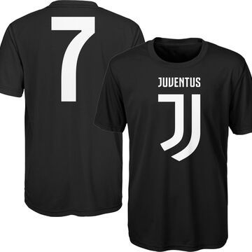 Outerstuff Youth Juventus Cristiano Ronaldo #7 Black Player Tee