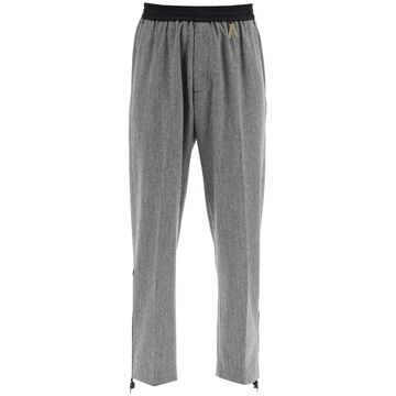 Aries houndstooth trousers with zip detail