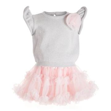 First Impressions Baby Girls 2-Pc. Sweater & Statement Skirt Set, Created For Macy's