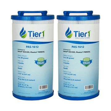 Tier1 35 Waterway 817-4035, Teleweir 35 SF, Pleatco PWW35L, Unicel 4CH-935 Comparable Replacement Filter Cartridge (2-Pack)