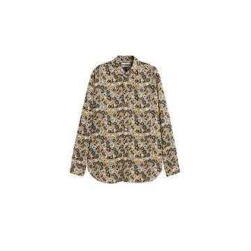 MANGO MAN - Regular fit floral print shirt ochre - M - Men