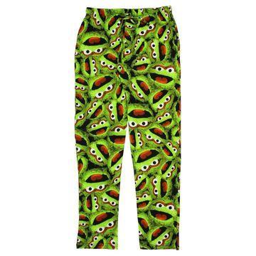 Sesame Street Men's Sleep Lounge Pajama Pants (Oscar the Grouch, X-Large)