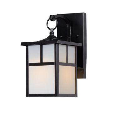 Maxim Lighting Coldwater 12-in H Black Medium Base (E-26) Outdoor Wall Light
