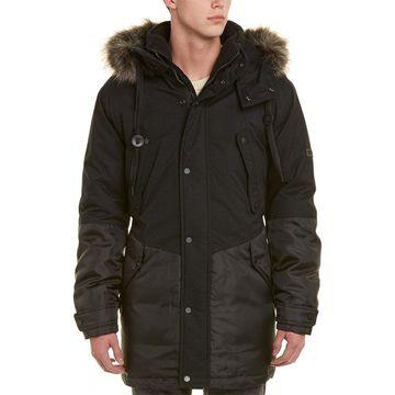 Marc New York Mens Long Oxford Down Parka Coat