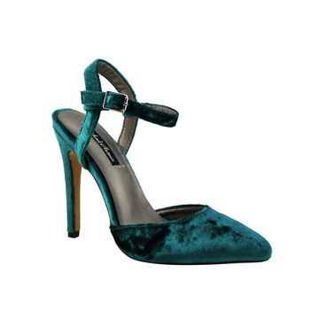 Michael Antonio Womens Liric-Vel Heeled Sandals