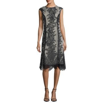Sleeveless Chantilly Lace Cocktail Dress
