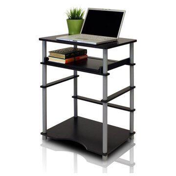 Furinno Home Computer Desk, Black/Grey