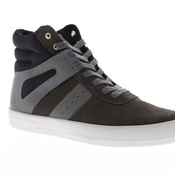 Creative Recreation Moretti Gray Black Mens High Top Sneakers