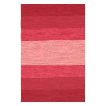 India Contemporary Area Rug, Red and Pink, 7'9