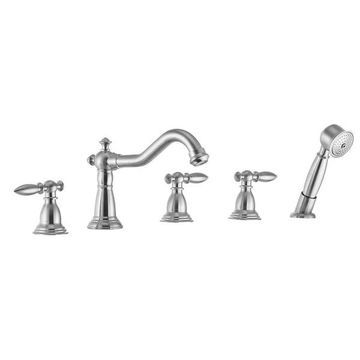 ANZZI Patriarch Deck-Mount Roman Tub Faucet in Brushed Nickel