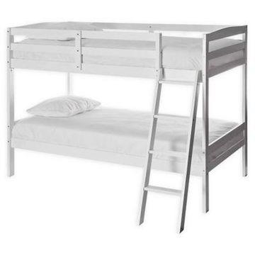Dream On Me Logan Mini Twin Bunk Bed in White