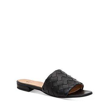 Aquatalia Women's Talia Woven Leather Slide Sandals