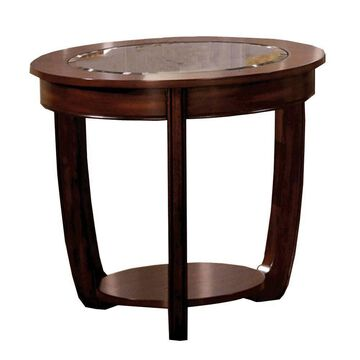 Crystal Falls Transitional End Table Coffee - Benzara