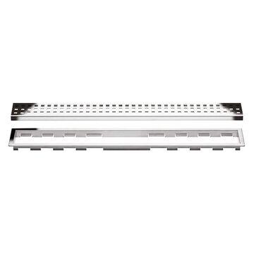 Schluter Systems Kerdi-Line Chrome Stainless Steel Shower Drain   KL1B19EP70