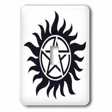 3dRose Supernatural Symbol,, Single Toggle Switch