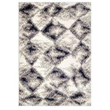 Orian Angora Digital Stone White Area Rug, 5'3