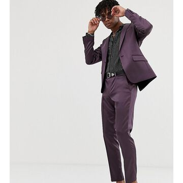 Heart & Dagger skinny suit pants in shimmer-Purple