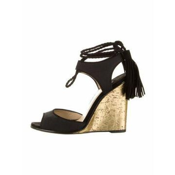 Tassel Accents Sandals Black