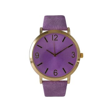Olivia Pratt Womens Purple Leather Strap Watch-26268bpurple