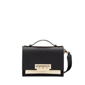 Earthette Two-Tone Leather Shoulder Bag