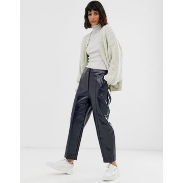 Weekday patent pants in navy