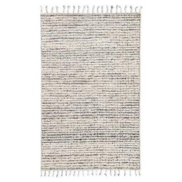 Jaipur Living Perkins Dot 8' x 11' Handcrafted Area Rug in Ivory/Black