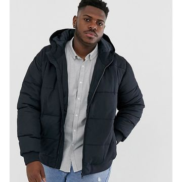 Only & Sons hooded padded jacket in navy