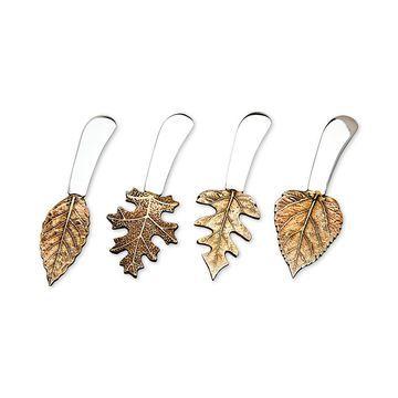 Brass Leaf Spreaders, Set of 4