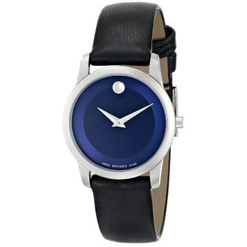 Movado Women's 0606611 Museum Stainless Steel Watch (Swiss Quartz - Casual/Analog - Female - Blue - 14mm Strap - Water Resistant - Buckle - Round -