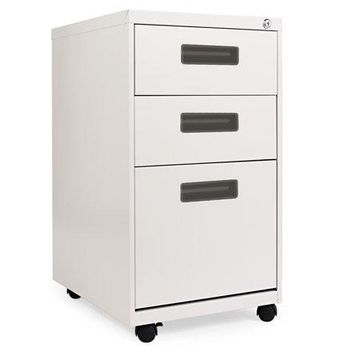 Alera 3 Drawers Vertical Lockable Filing Cabinet, Gray