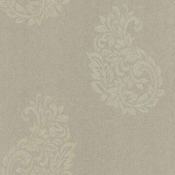 Kenneth James Baja Grey Paisley Spot Wallpaper