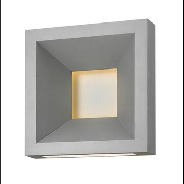 Hinkley Lighting 20300 1 Light LED ADA Compliant Outdoor Wall Sconce from the Plaza Collection Titanium Outdoor Lighting Wall Sconces Outdoor Wall